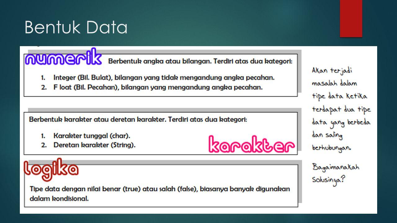 Bentuk Data