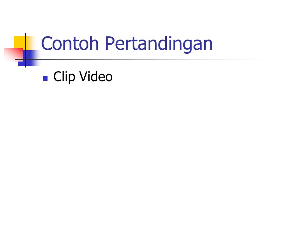 Contoh Pertandingan Clip Video