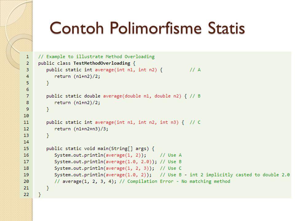Contoh Polimorfisme Statis