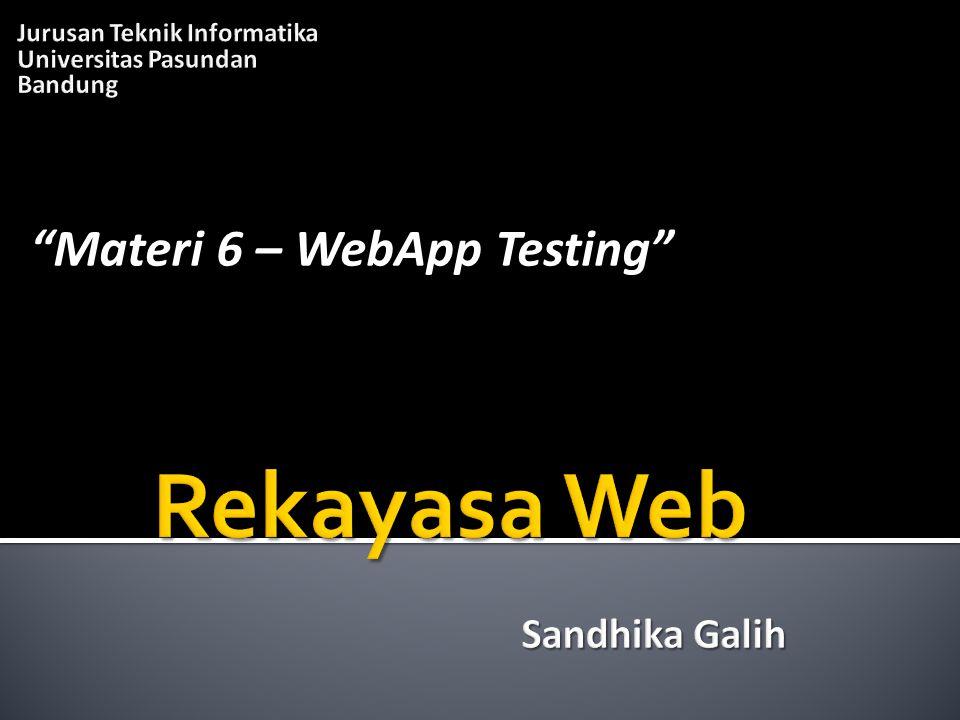 """""""Materi 6 – WebApp Testing"""""""