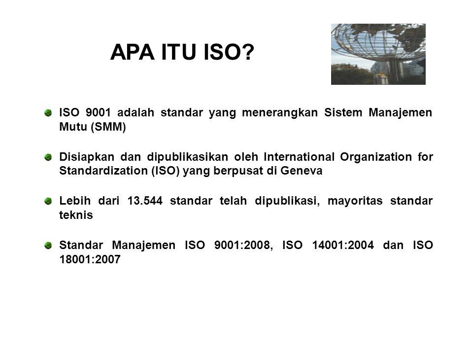 ISO 9001:2008 merupakan Petunjuk Pelaksana (Juklak) sedangkan IWA-2:2007 adalah petunjuk teknis (Juknis) ISO. IWA 2:2007 merupakan versi baru pendampi