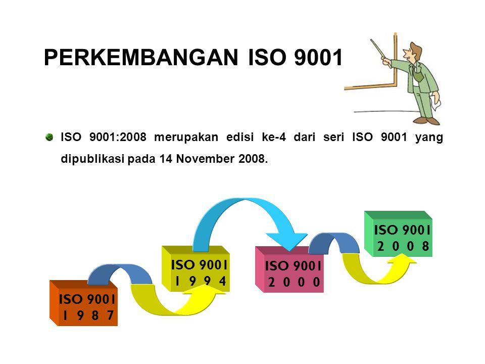 ISO 9001 adalah standar yang menerangkan Sistem Manajemen Mutu (SMM) Disiapkan dan dipublikasikan oleh International Organization for Standardization