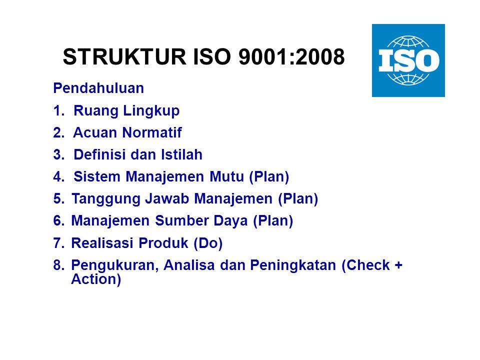 """""""Pasangan Konsisten"""" dari Standar ISO 9001 : SMM - Persyaratan ISO 9004 : SMM - Petunjuk untuk Peningkatan Kinerja Terminologi yang kompatibel ISO 900"""