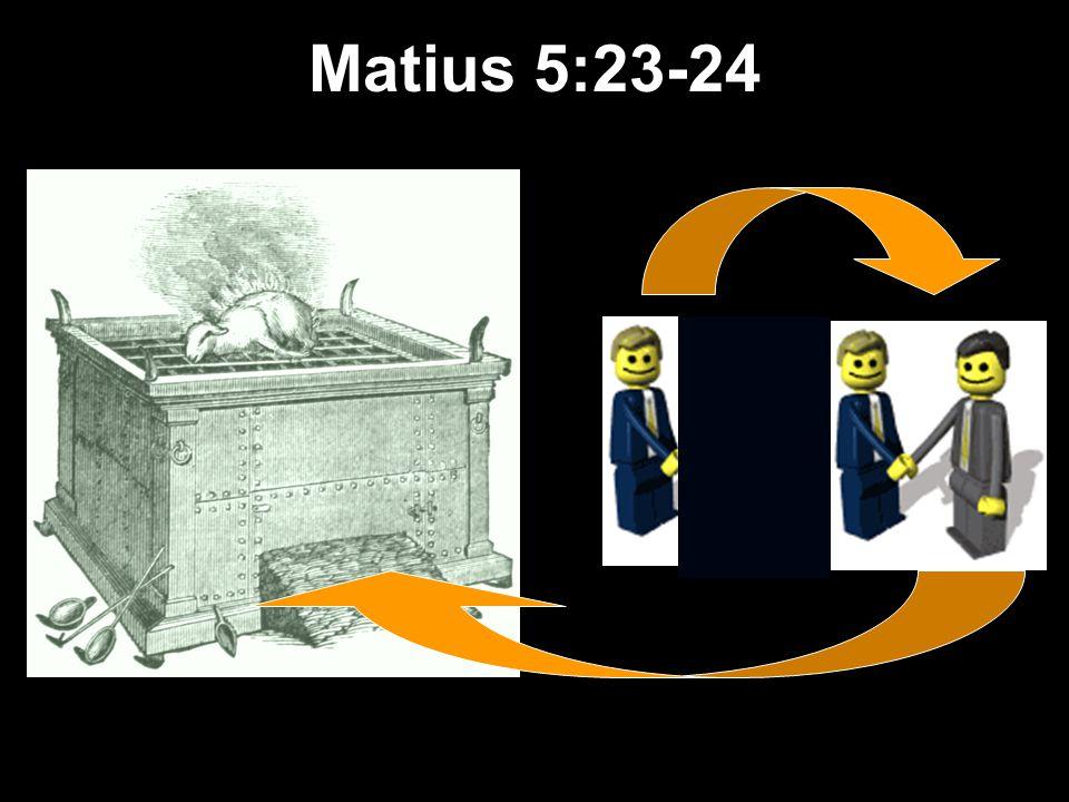 Matthew s Relational Pillars 5:23-24 Anda: Masalah: Melanggar Umum Pilar-pilar Perhubungan di Matius