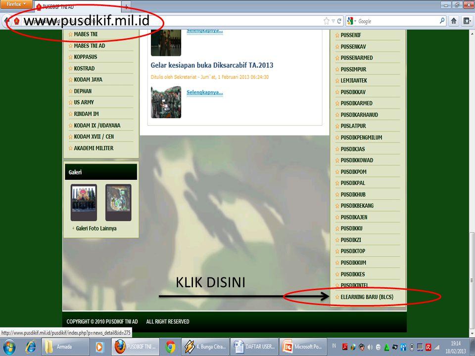 www.pusdikif.mil.id KLIK DISINI