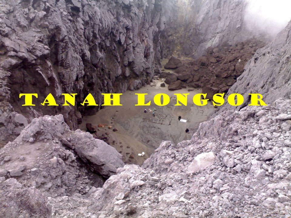 Segera menutup retakan tanah dan dipadatkan agar air tidak masuk ke dalam tanah melalui retakan.(gb.kiri) Jangan melakukan penggalian di bawah lereng terjal.(gb.kanan)