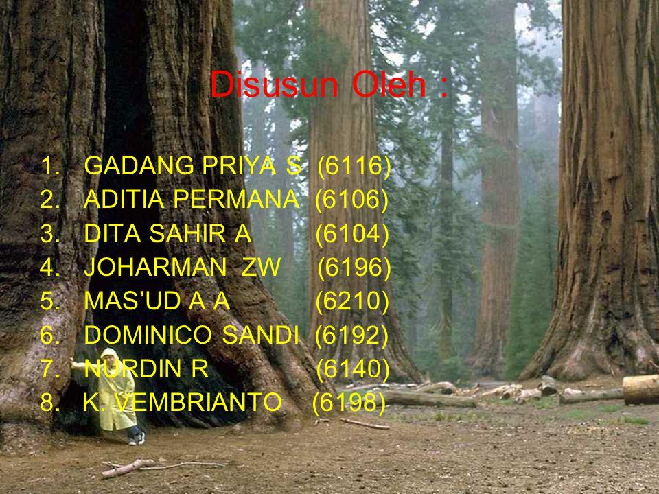 Disusun Oleh : 1.GADANG PRIYA S (6116) 2.ADITIA PERMANA (6106) 3.DITA SAHIR A (6104) 4.JOHARMAN ZW (6196) 5.MAS'UD A A (6210) 6.DOMINICO SANDI (6192)