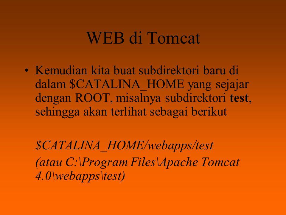 WEB di Tomcat Letakkan file yusuf.html di subdirectory risanuri.