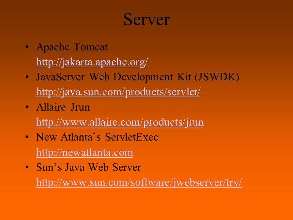 Tomcat Versi terbaru Tomcat dapat dilihat dan di download dari http://jakarta.apache.org/ Hasil down load berupa file : jakarta-tomcat-4.1.18 4.5 MB