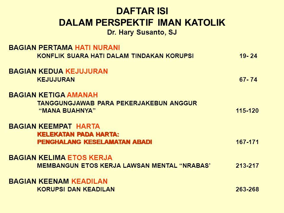 DAFTAR ISI DALAM PERSPEKTIF IMAN KATOLIK Dr.