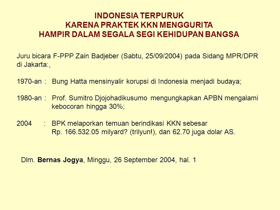 INDONESIA KORUPSI: NOMOR TIGA INDONESIA