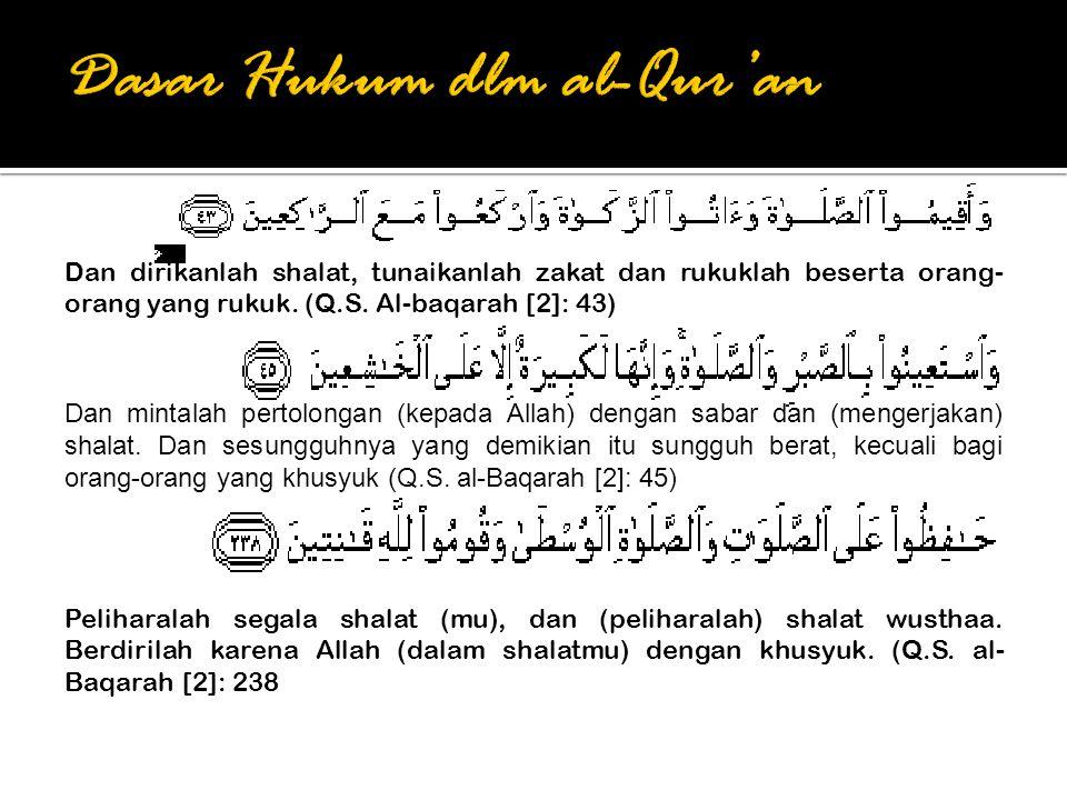 Dan mintalah pertolongan (kepada Allah) dengan sabar dan (mengerjakan) shalat.