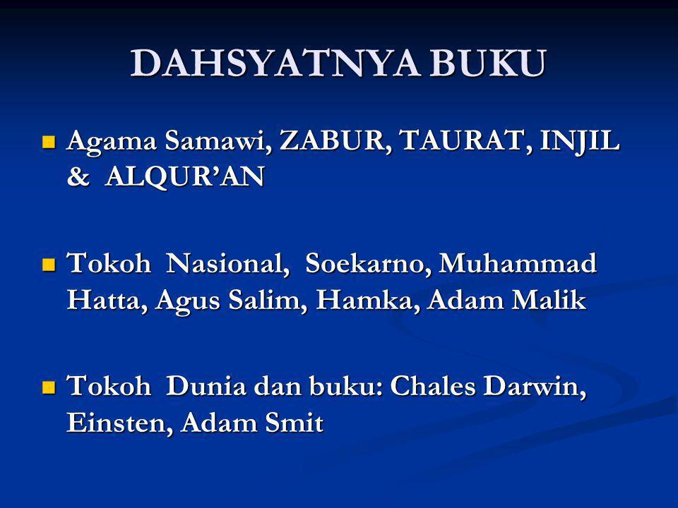 DAHSYATNYA BUKU Agama Samawi, ZABUR, TAURAT, INJIL & ALQUR'AN Agama Samawi, ZABUR, TAURAT, INJIL & ALQUR'AN Tokoh Nasional, Soekarno, Muhammad Hatta,