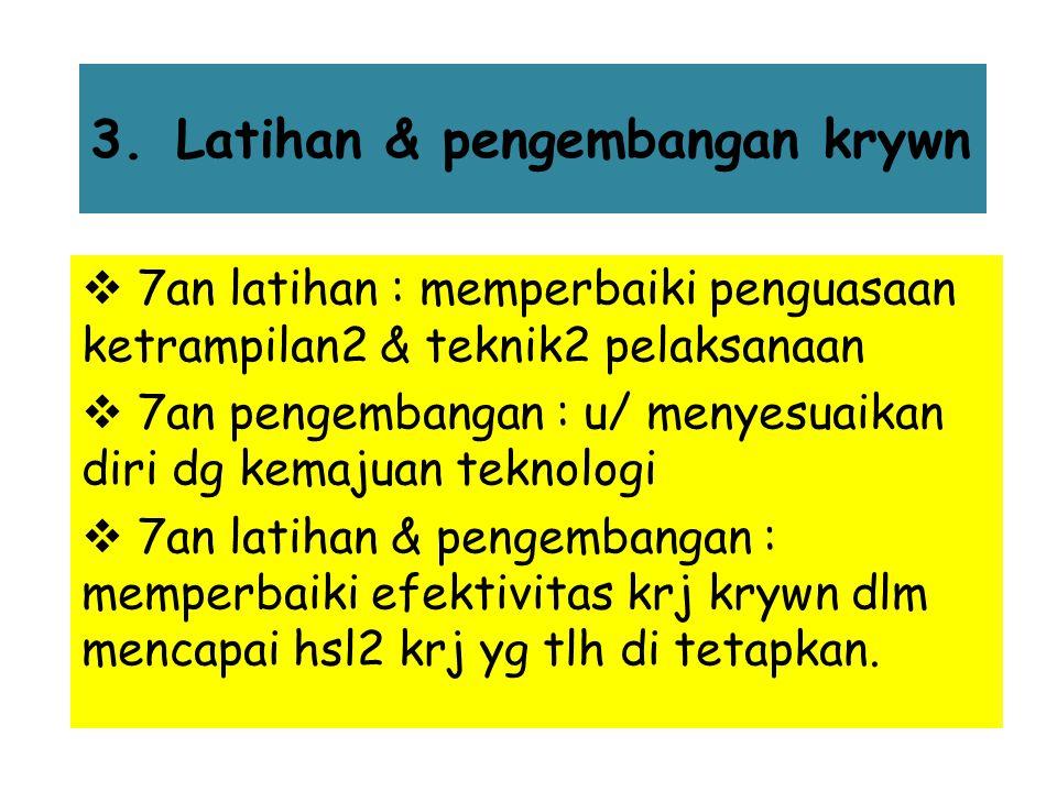 Faktor2 yg mempengaruhi prestasi krywn 1.Latar blkg pribadi → pendidikan & pnglmn 2.Bakat & minat → mengukur kemampuan & minat se2org 3.Sikap & keb →