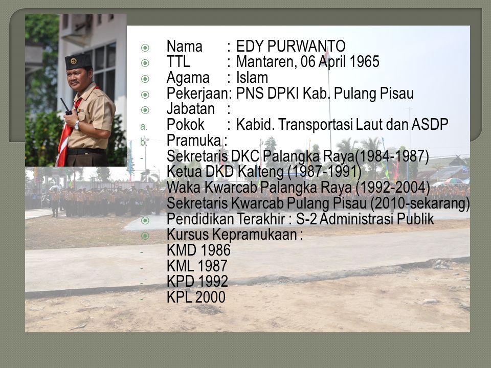 CARA MENYELESAIKAN SPG DAN MENDAPATKAN TPG BAGI PRAMUKA PENGGALANG Oleh : EDY PURWANTO, S.Sos., M.Si