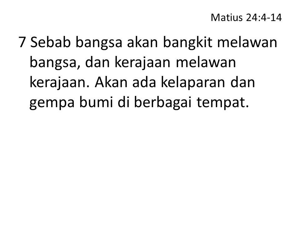 Matius 24:37-41 40 Pada waktu itu kalau ada dua orang di ladang, yang seorang akan dibawa dan yang lain akan ditinggalkan;