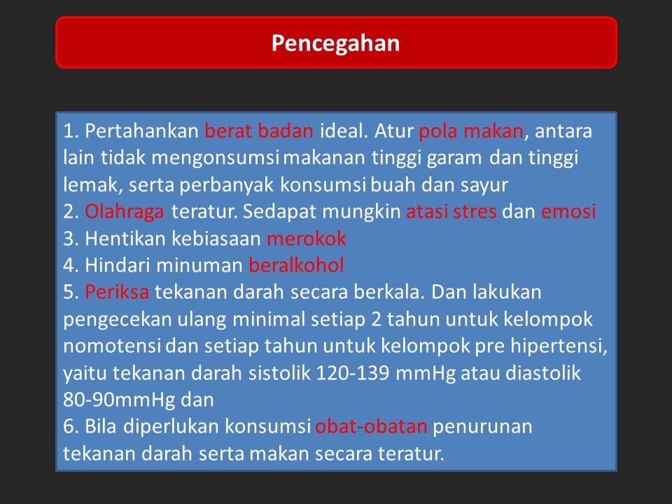 1.Pertahankan berat badan ideal.
