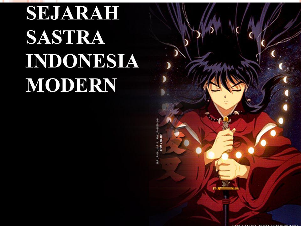 SEJARAH SASTRA INDONESIA MODERN