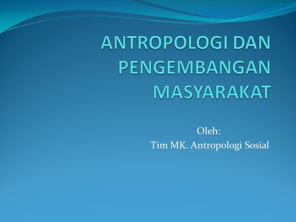 Oleh: Tim MK. Antropologi Sosial
