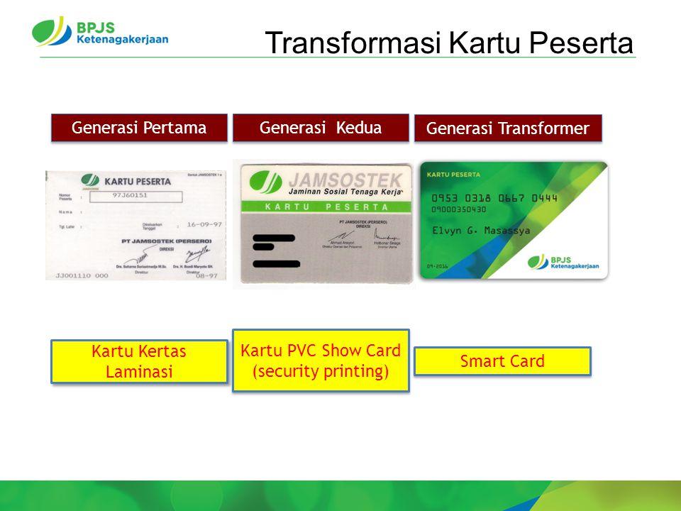 Transformasi Kartu Peserta Generasi Transformer Generasi Kedua Generasi Pertama Kartu Kertas Laminasi Kartu PVC Show Card (security printing) Smart Card