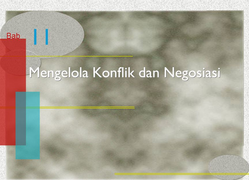 McGraw-Hill/Irwin© 2005 The McGraw-Hill Companies, Inc. All rights reserved. 11-2 Bab Mengelola Konflik dan Negosiasi 11