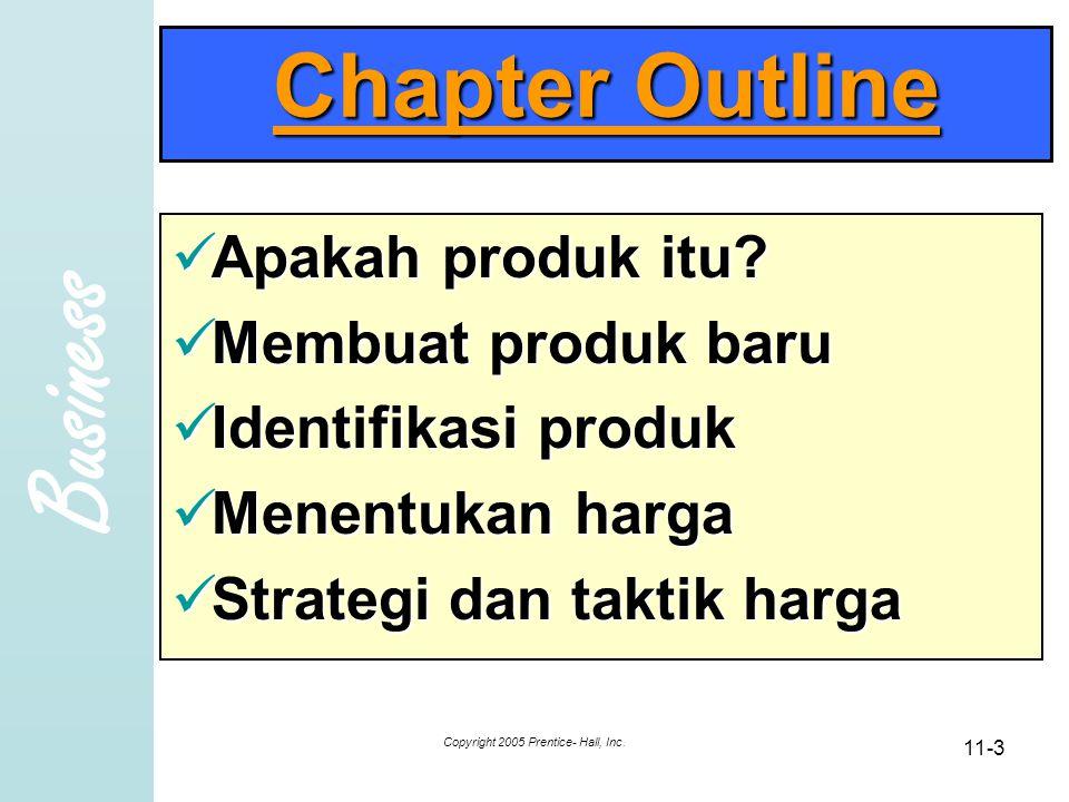 Business Copyright 2005 Prentice- Hall, Inc.11-4 Produk.