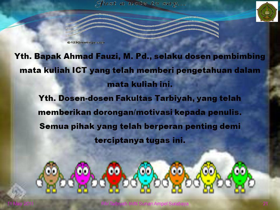 11 May 2011 20 PAI Tarbiyah IAIN Sunan Ampel Surabaya
