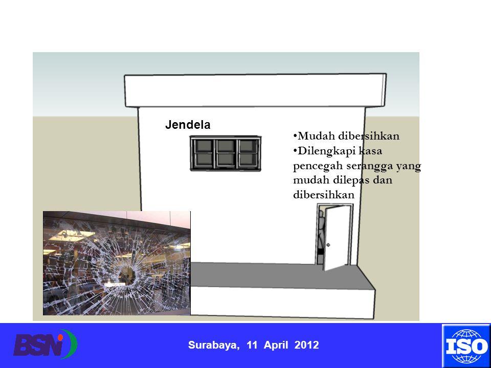 Surabaya, 11 April 2012 Mudah dibersihkan Dilengkapi kasa pencegah serangga yang mudah dilepas dan dibersihkan Jendela