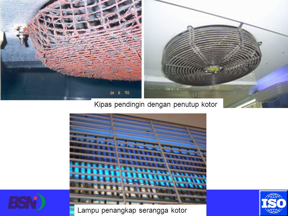 Surabaya, 11 April 2012 Kipas pendingin dengan penutup kotor Lampu penangkap serangga kotor