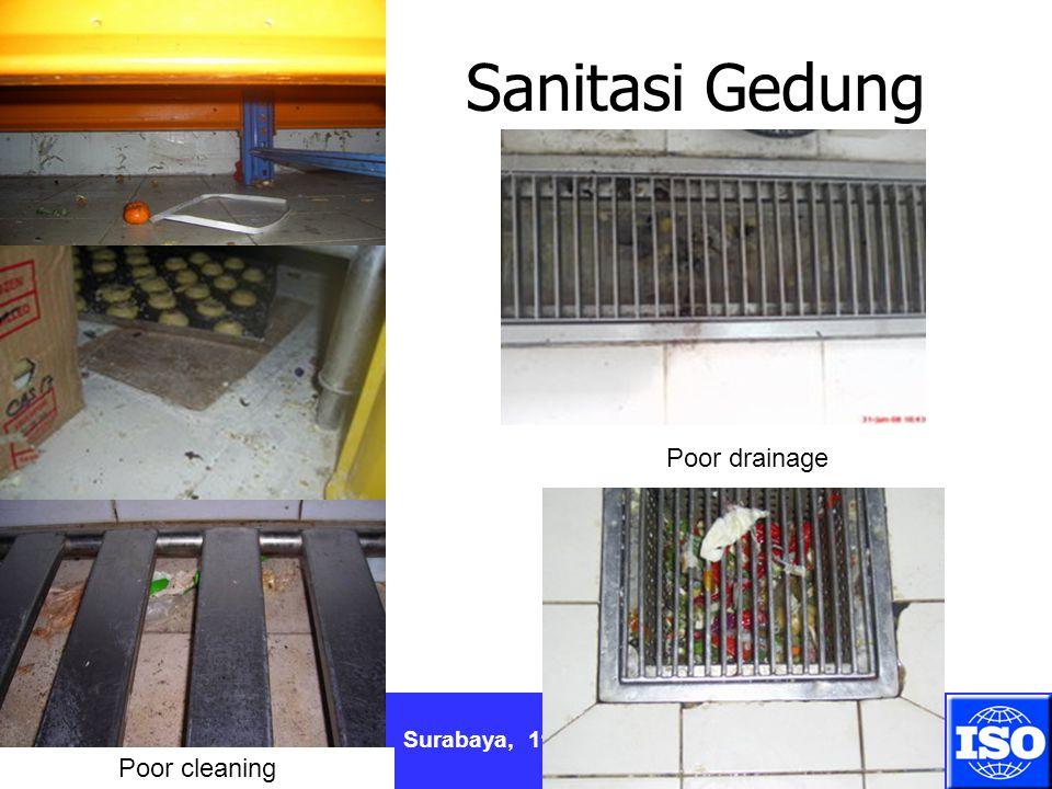 Surabaya, 11 April 2012 Sanitasi Gedung Poor drainage Poor cleaning