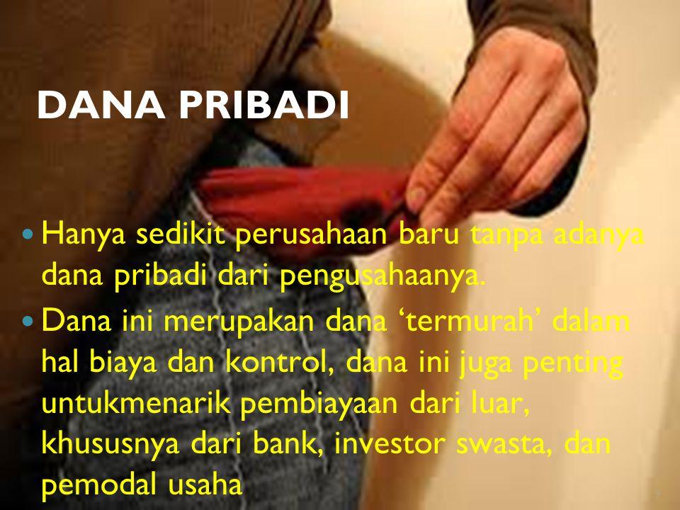 KELUARGA DAN TEMAN Keluarga dan teman cenderung mau berinvestasi karena mereka memiliki hubungan baik dengan pengusaha.