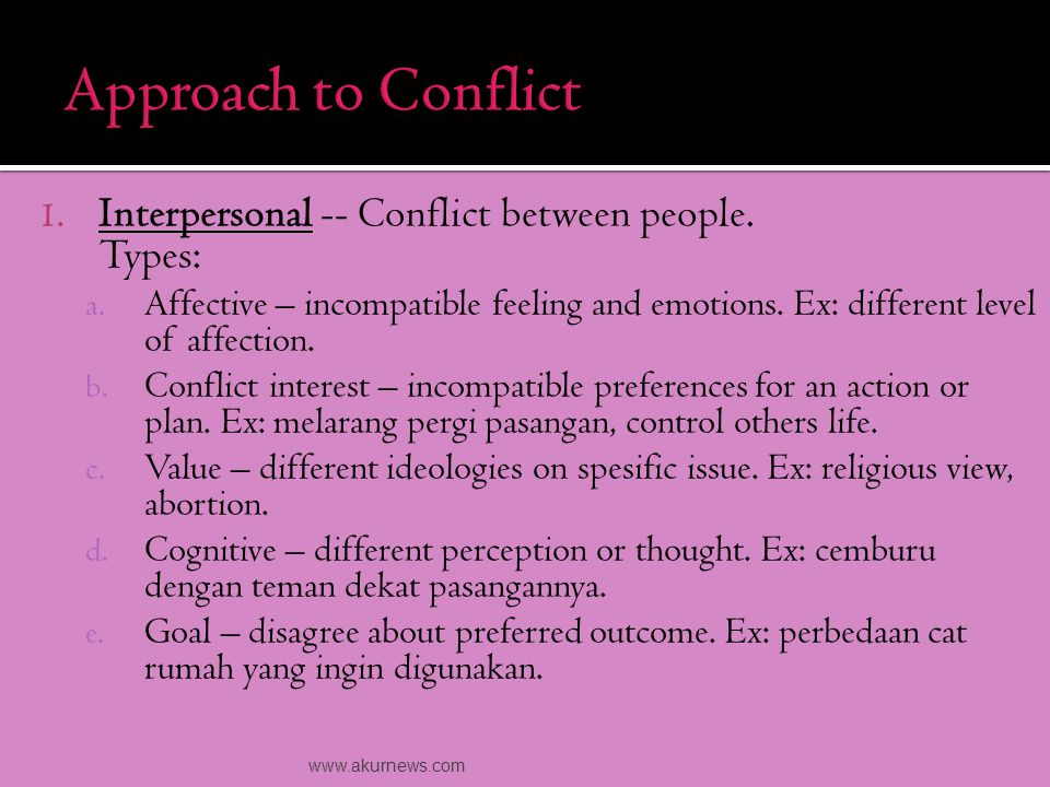 Tactics dealing with conflict. People respond o conflict influenced by their cultural background.