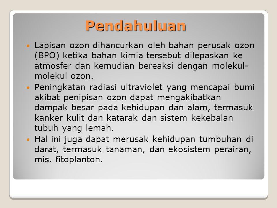 Regulasi: Pelarangan impor barang yang mengandung HCFC Regulasi akan diberlakukan mulai 1 Januari 2015 Tujuan regulasi:  Mengendalikan kebutuhan HCFC yang tinggi guna keperluan perawatan barang yang mengandung HCFC di masa mendatang  Menghindari Indonesia sebagai tempat pembuangan barang yang mengandung HCFC dari negara lain 53