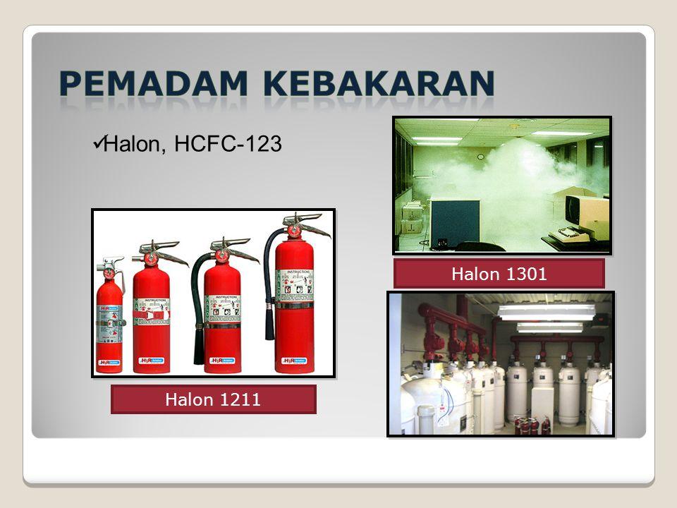 Halon 1211 Halon 1301 Halon, HCFC-123