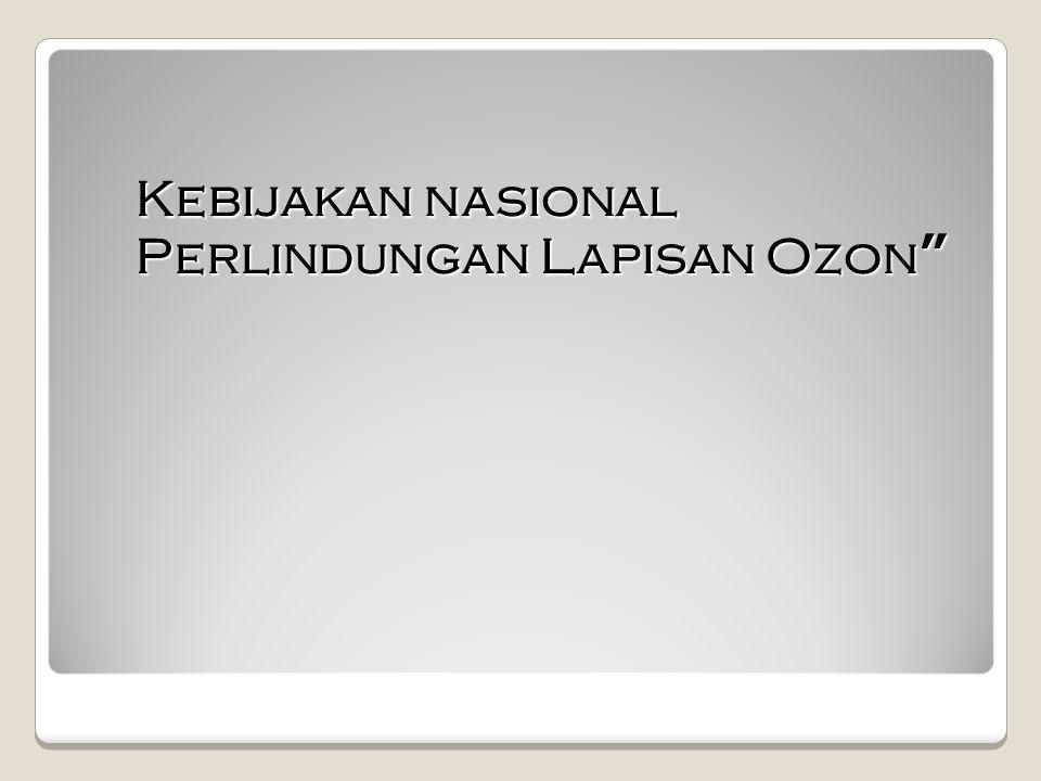 """Kebijakan nasional Perlindungan Lapisan Ozon"""""""