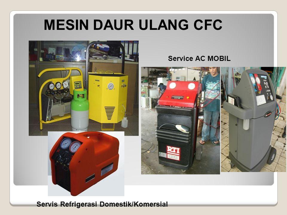MESIN DAUR ULANG CFC Service AC MOBIL Servis Refrigerasi Domestik/Komersial