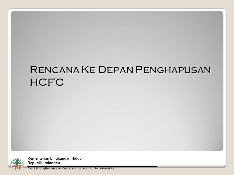 Rencana Ke Depan Penghapusan HCFC Kementerian Lingkungan Hidup Republik Indonesia Deputi Bidang Pengendalian Kerusakan Lingkungan dan Perubahan Iklim