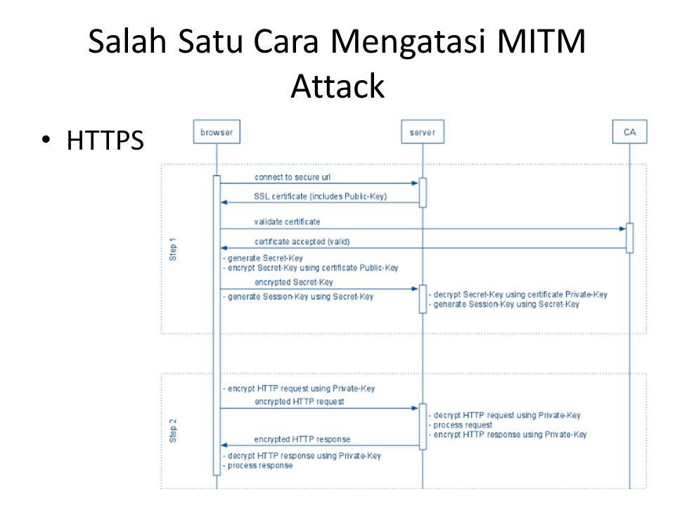 Salah Satu Cara Mengatasi MITM Attack HTTPS