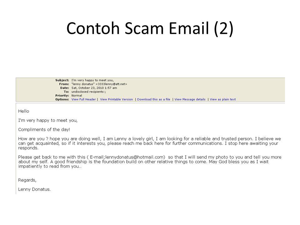 Contoh Scam Email (2)