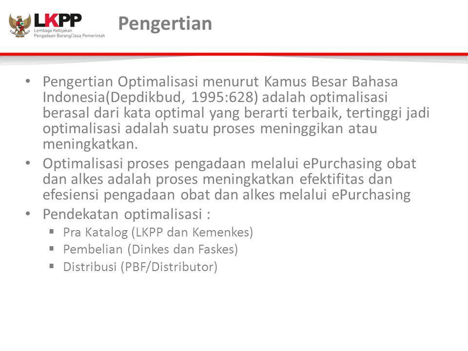 Pengertian Pengertian Optimalisasi menurut Kamus Besar Bahasa Indonesia(Depdikbud, 1995:628) adalah optimalisasi berasal dari kata optimal yang berart