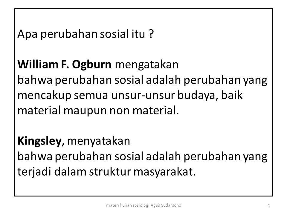 B.Ciri-ciri Dan Sifat Perubahan Sosial 1.