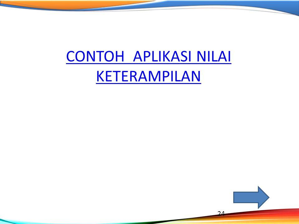 CONTOH APLIKASI NILAI KETERAMPILAN 24