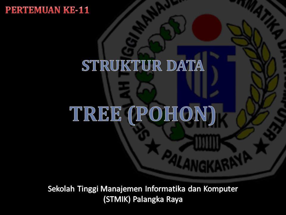 Pohon atau tree adalah salah satu bentuk graph terhubung yang tidak mengandung sirkuit.
