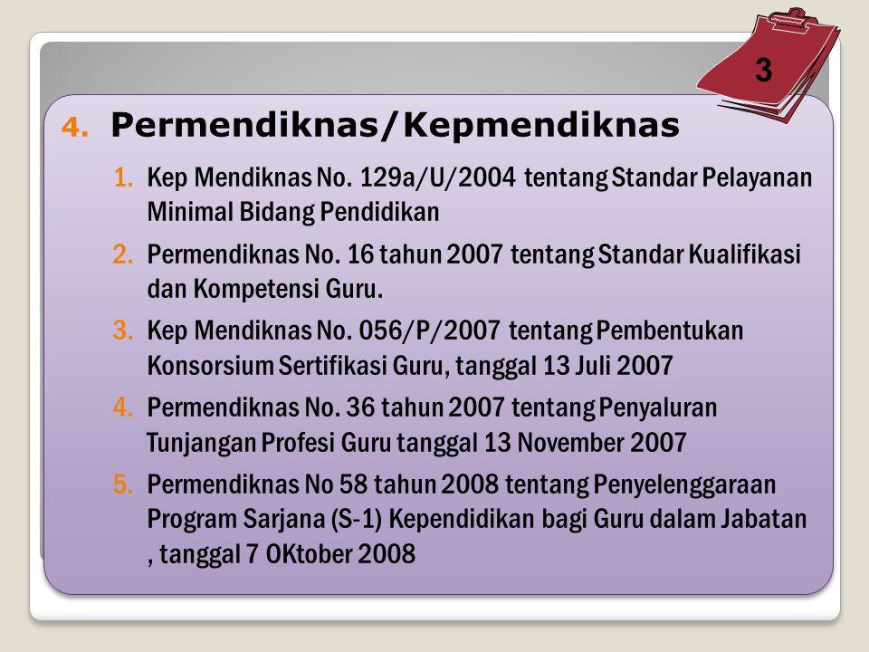 4.Permendiknas/Kepmendiknas 1.Kep Mendiknas No.