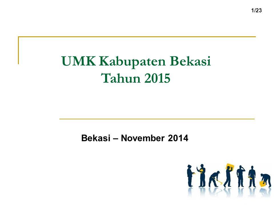 UMK Kabupaten Bekasi Tahun 2015 Bekasi – November 2014 1/23
