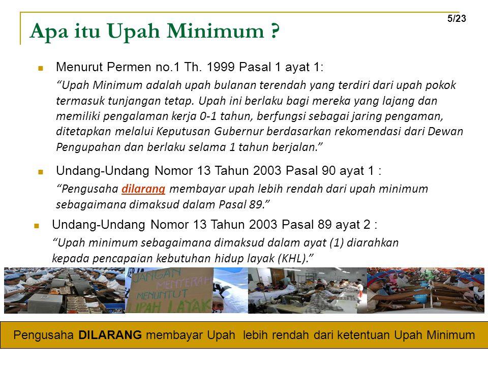 """Apa itu Upah Minimum ? Undang-Undang Nomor 13 Tahun 2003 Pasal 89 ayat 2 : """"Upah minimum sebagaimana dimaksud dalam ayat (1) diarahkan kepada pencapai"""