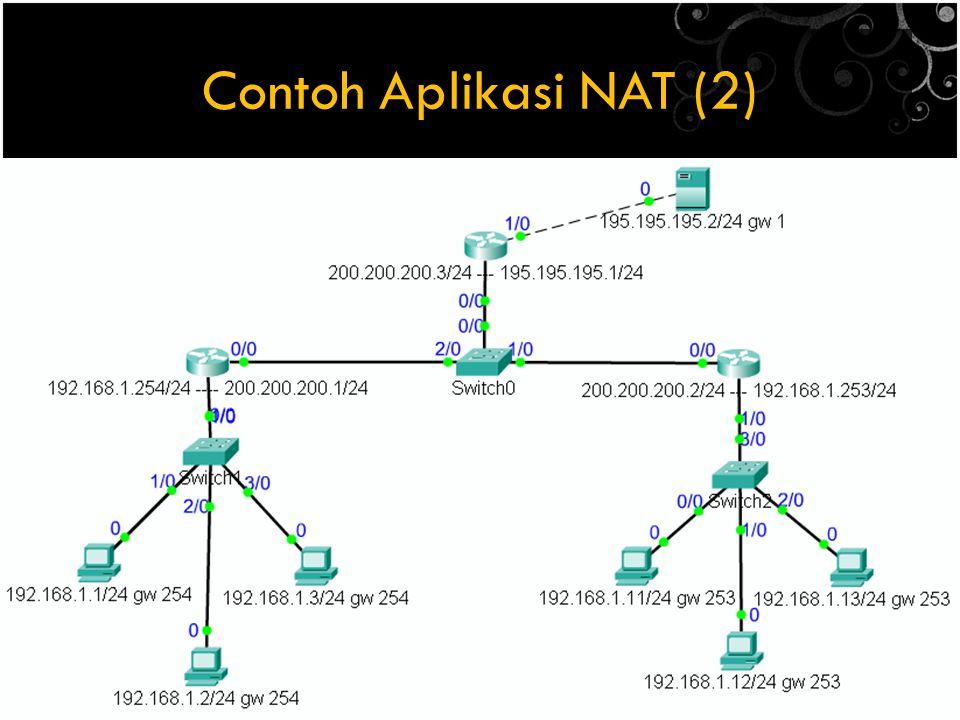 Contoh Aplikasi NAT (2)
