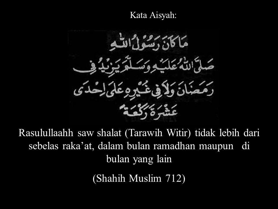 Siapa puasa ramadhan, kemudian dilanjutkan dengan enam dari syawwal, adalah seperti puasa sepanjang zaman. (Shahih Muslim 1134)