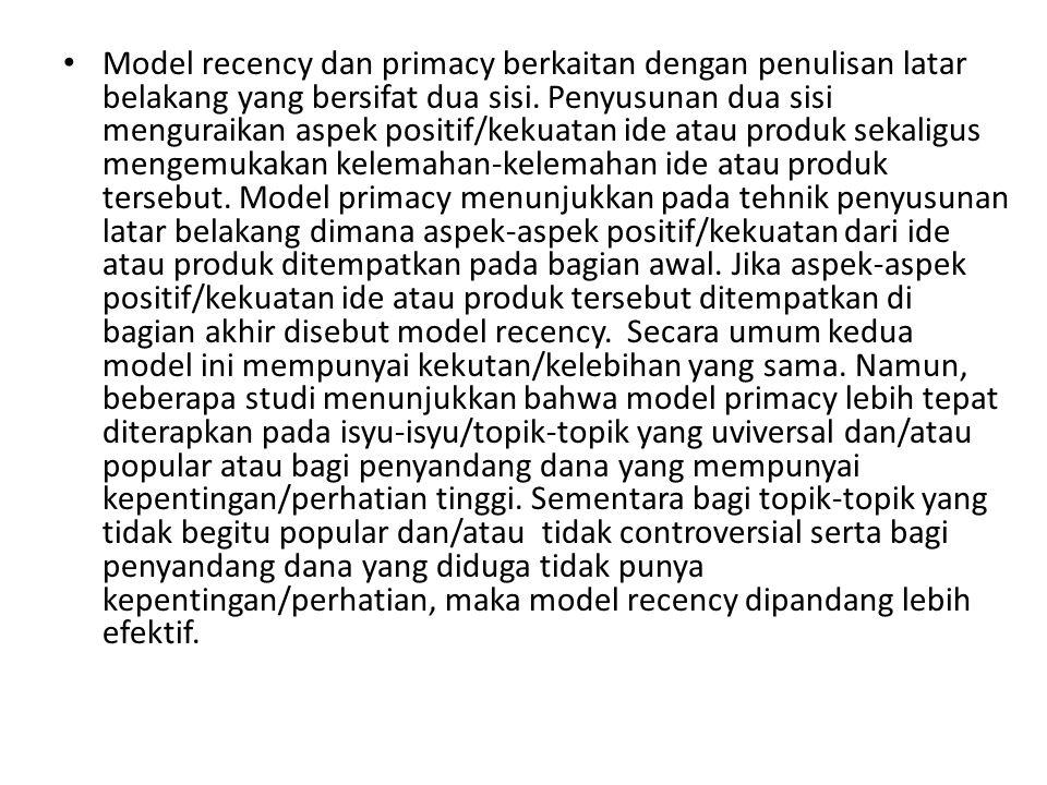 """Ada dua macam tahapan penulisan latar belakang menurut urutannya yaitu urutan klimaks vs antiklimaks dan model """"recency vs primacy. Urutan klimaks vs."""