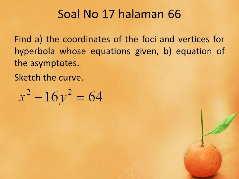 Jelas sehingga persamaan berbentuk dengan fokus pada sumbu Y.